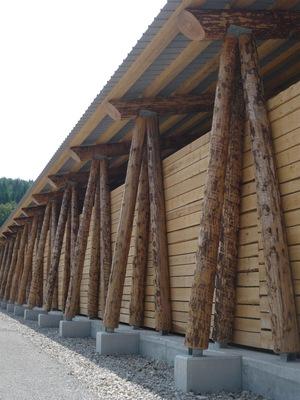 PhotoConstruction d'une plateforme de stockage de bois déchiqueté