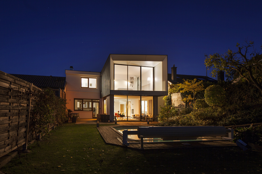 PhotoRestructuration et extension d'une maison