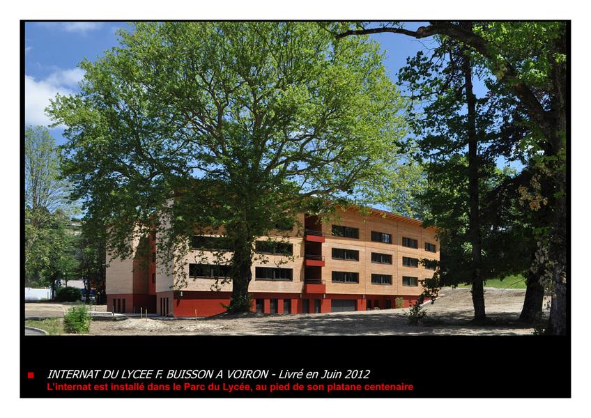 PhotoConstruction d'un Internat au Lycée Ferdinand Buisson
